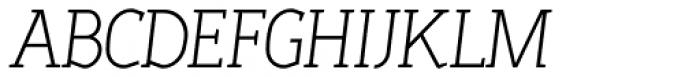 Sadi Extra Light Italic Font UPPERCASE