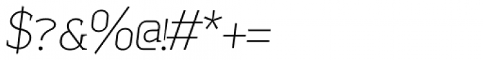 Sadi Thin Italic SC Font OTHER CHARS