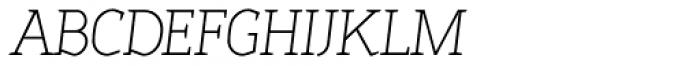 Sadi Thin Italic SC Font LOWERCASE