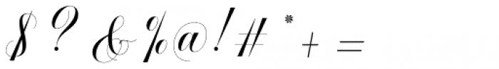 Safelight Script Regular Font OTHER CHARS
