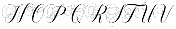 Safelight Script Regular Font UPPERCASE