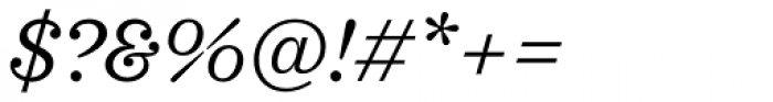 Sagona Book Italic Font OTHER CHARS