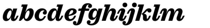 Sagona Extra Bold Italic Font LOWERCASE