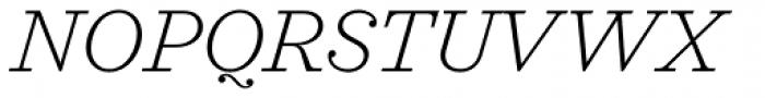 Sagona Extra Light Italic Font UPPERCASE