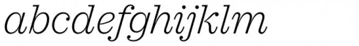 Sagona Extra Light Italic Font LOWERCASE