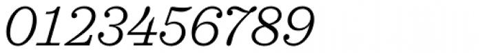 Sagona Light Italic Font OTHER CHARS