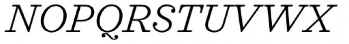 Sagona Light Italic Font UPPERCASE