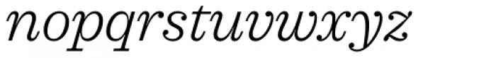 Sagona Light Italic Font LOWERCASE