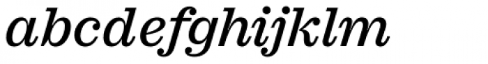 Sagona Medium Italic Font LOWERCASE