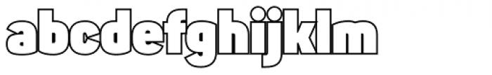 Sahar Sans Heavy Outline Font LOWERCASE