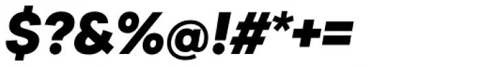 Sailec Black Italic Font OTHER CHARS