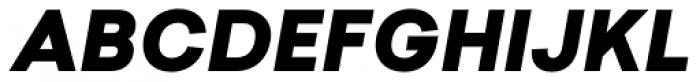Sailec Black Italic Font UPPERCASE