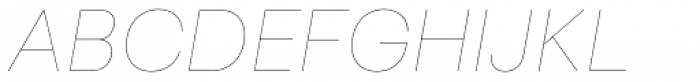 Sailec Hairline Italic Font UPPERCASE