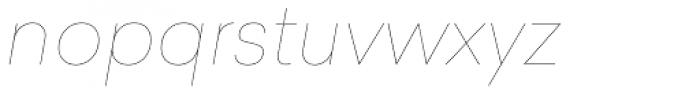 Sailec Hairline Italic Font LOWERCASE