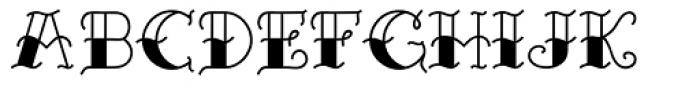 Sailor Marie Black Bottom Font UPPERCASE