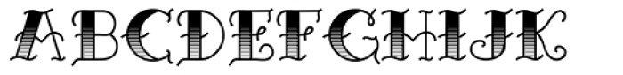 Sailor Marie Shaded reverse Font UPPERCASE