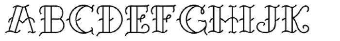 Sailor Marie open Font UPPERCASE