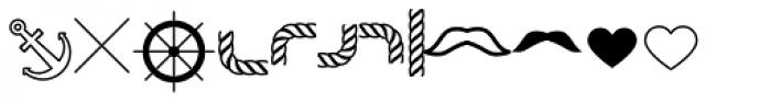 Sailors Dream DINGS Font LOWERCASE