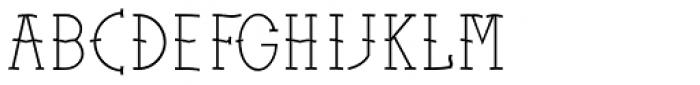 Sailors Tattoo Pro Light Font UPPERCASE