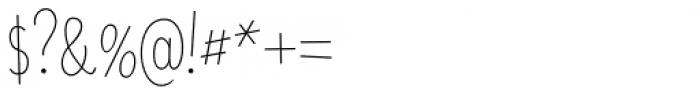 Saker Sans Thin Font OTHER CHARS
