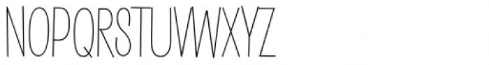 Saker Sans Thin Font UPPERCASE