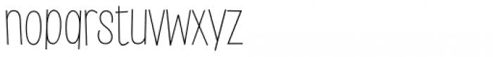 Saker Sans Thin Font LOWERCASE