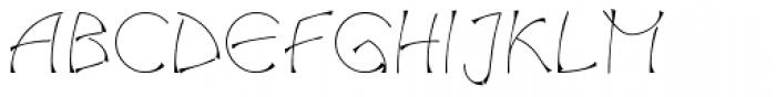 Salamander Com Regular Font UPPERCASE