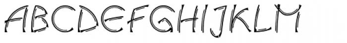Salamander Double Medium Font UPPERCASE