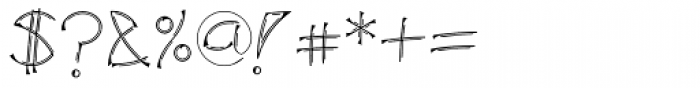 Salamander Double Regular Font OTHER CHARS