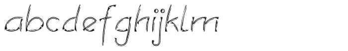 Salamander Double Regular Font LOWERCASE