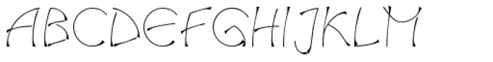 Salamander Regular Font UPPERCASE