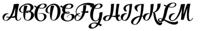Salamander Script Bold Font UPPERCASE
