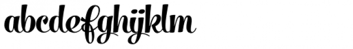 Salamander Script Bold Font LOWERCASE