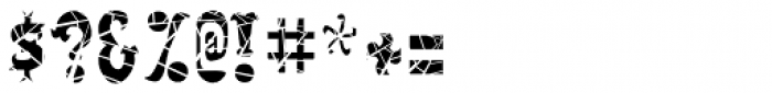 Salloon Cracked Font OTHER CHARS