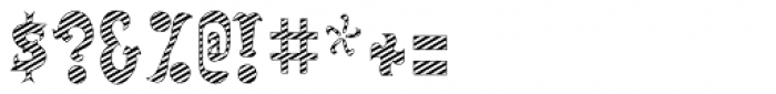 Salloon Striped Font OTHER CHARS