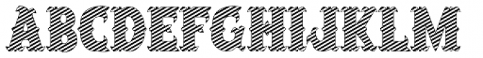 Salloon Striped Font UPPERCASE