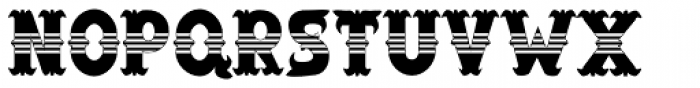 Salloon StripedMiddle Font UPPERCASE