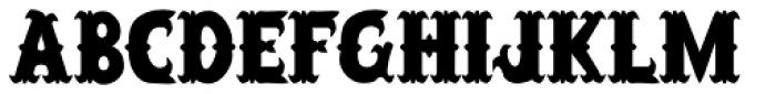 Salloon Font UPPERCASE