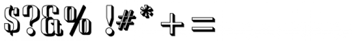 Saloon Drop Shadow Font OTHER CHARS