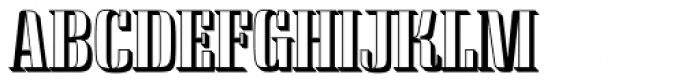 Saloon Drop Shadow Font UPPERCASE