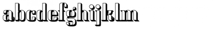Saloon Drop Shadow Font LOWERCASE