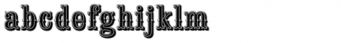 Saloon Girl Inline Font LOWERCASE