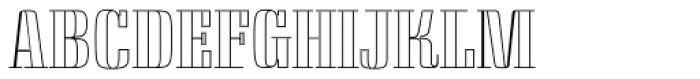 Saloon Outline Font UPPERCASE