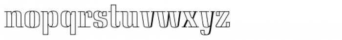 Saloon Outline Font LOWERCASE
