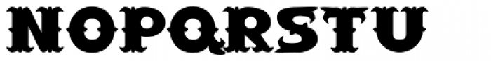 Saloon Wide Font LOWERCASE