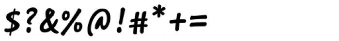 Saltbush Bold Font OTHER CHARS