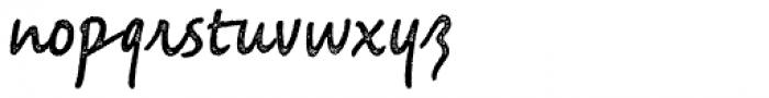 Saltbush Rough Regular Font LOWERCASE