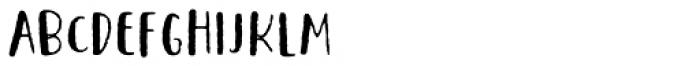 Saltbush Rough Sans Font LOWERCASE
