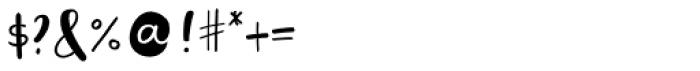 Saltbush Sans Font OTHER CHARS