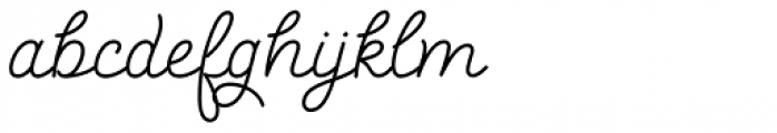 Salve Script1 Bold Font LOWERCASE